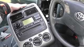 Toyota Avensis Radio CD Climate Control Unit Removal Steps