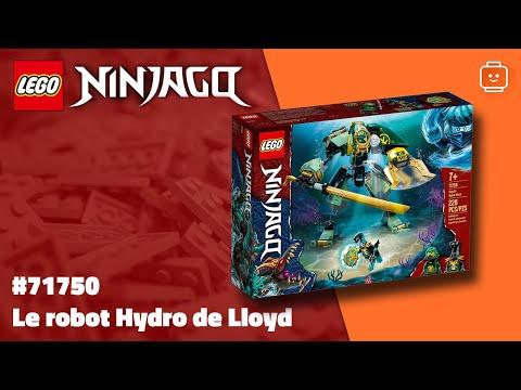 Vidéo LEGO Ninjago 71750 : Le robot Hydro de Lloyd