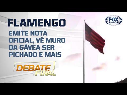 FLAMENGO: MURO PICHADO, TREINOS E NOTA OFICIAL