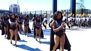 Alabama State University Marching Band Ft. The Stingettes   Marching In   2018