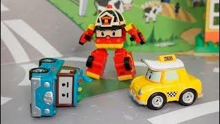 Мультики Робокар Поли для детей с игрушками  - Нужно вовремя спать. Мультфильмы про машинки.