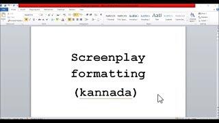 script writing tips in kannada - TH-Clip