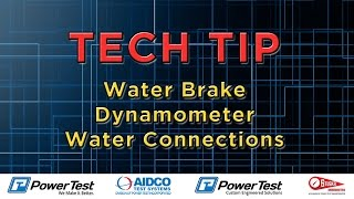 Water Brake Dyno Water Connections