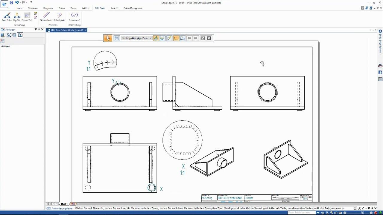 Vorschaubild: PBU-Tool für Solid Edge: Welding Bead 2D