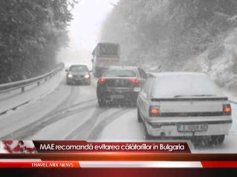 MAE recomanda evitarea calatoriilor in Bulgaria