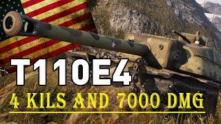 Wot Consoles (World of Tanks Mercenaries) - T110E4 - 4 Kills 7K Damage - wot replays | HarD1NeR