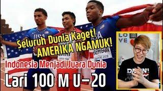 Seluruh Dunia Kaget! Reaksi Orang Korea Menonton Indonesia Menjadi Juara Dunia Lari 100 M U-20