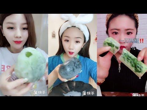 Sütlü Buz Yemek Videoları - #142 ASMR (Frozen Milk Eating)