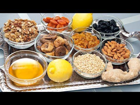 3 СУПЕР-РЕЦЕПТА ВИТАМИННЫХ СМЕСЕЙ для укрепления иммунитета! Мед, лимон, имбирь, сухофрукты, орехи