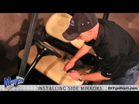 Golf Cart Side Mirrors | How to Install Video | Installing Golf Cart Adjustable Mirrors