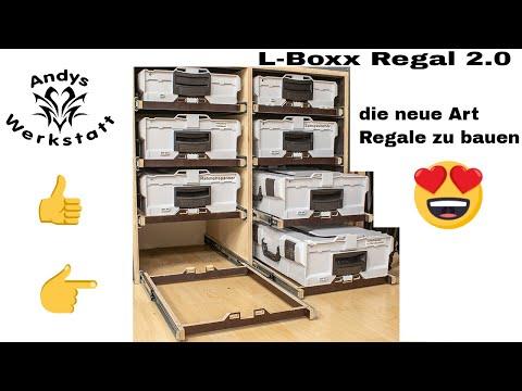 L - Boxx Regal 2.0 / Vollauszug, minimaler Materialaufwand