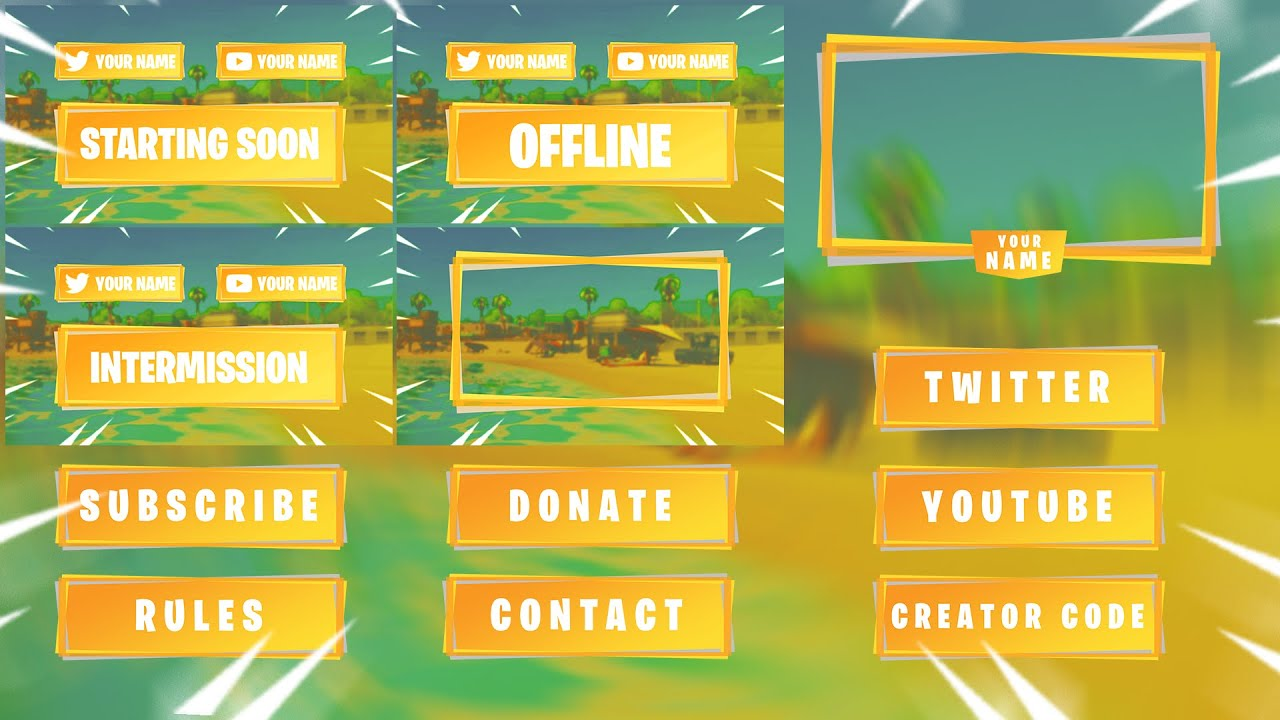Twitch Streaming overlay  template