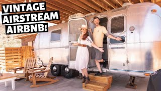 Staying in an AIRSTREAM Joshua Tree!! // Airbnb Unique stays California