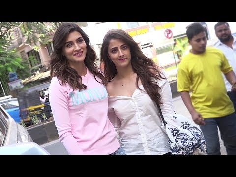 Kriti Sanon & Nupur Sanon Spotted Posing For The Camera #Spotted