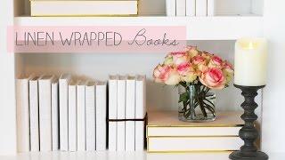 Linen Wrapped Books For Room Décor - HGTV Handmade