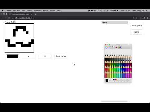Early Build Of A Game With Integrated Sprite Editor