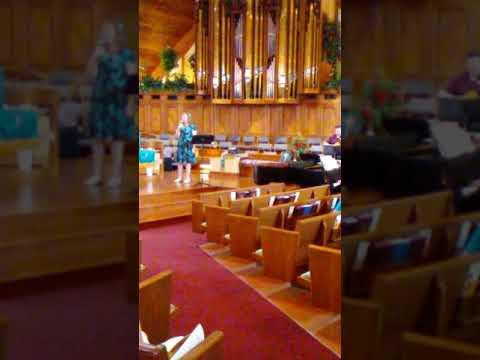 "This is Karen singing ""I Am Not Alone"" at my church, FPC in Aug. 2019. My apologies for the blurriness of the video, but the sound is good."