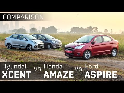 Honda Amaze  vs Ford Figo Aspire vs Hyundai Xcent :: Diesel Compact Sedan :: Comparison :: ZigWheels