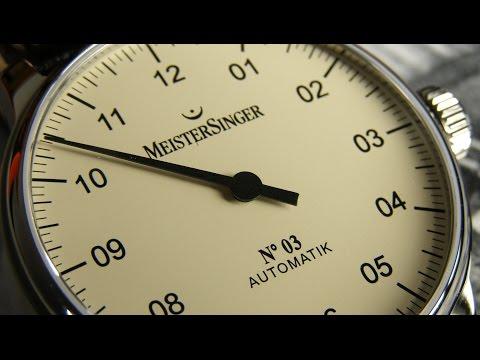 MEISTERSINGER Herrenuhr Einzeigeruhr No 3 AM903