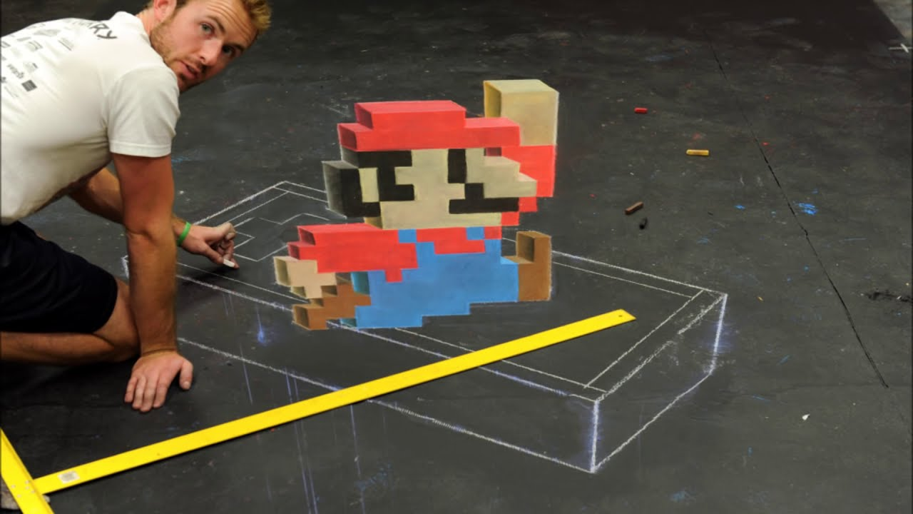 3d art tutorial time lapse video  super mario by mike larremore