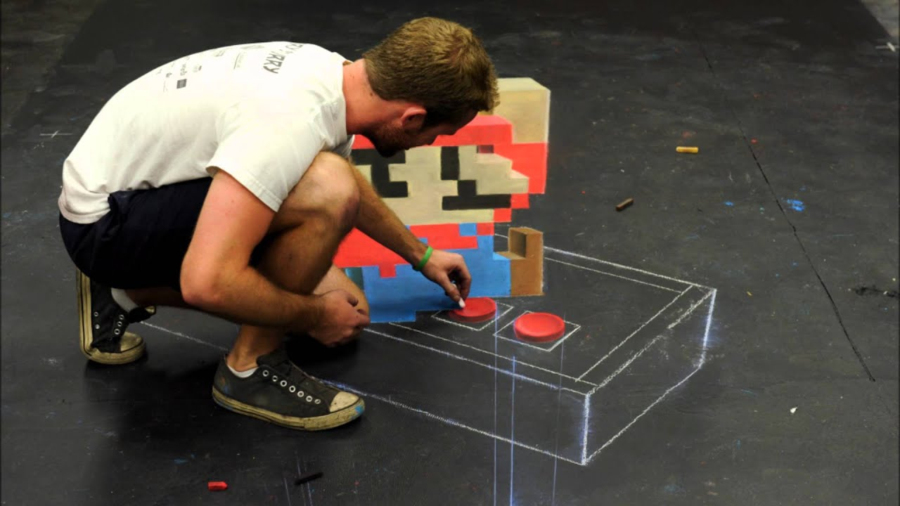 Super Mario 3D Art Melts My Feeble Brain.