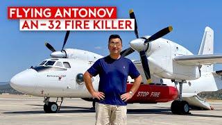 A Thrilling Flight on Aerial Firefighting Antonov An-32