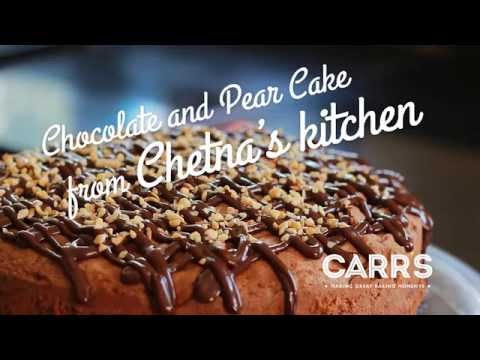 Chetna Makan and Carr's Flour – Chocolate and Pear cake recipe