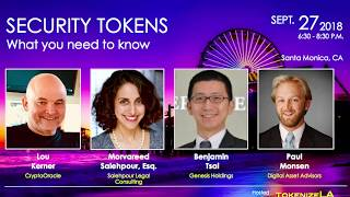 Ms. Salehpour Recently Discussed Legal and Regulatory Issues with Security Tokens for TokenizeLA
