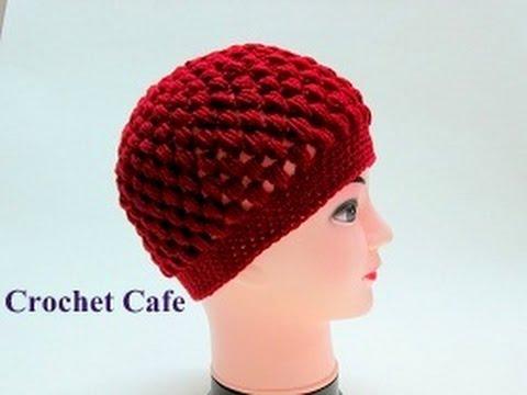 كروشيه طاقية بغرزة الباف | قناة كروشيه كافيه|Crochet Cafe