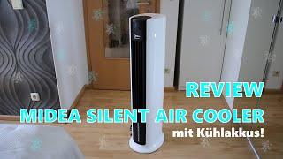REVIEW: MIDEA SILENT AIR COOLER - Turmventilator mit Kühlakkus