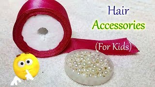 DIY, Diwali Special For Kids Bridal Hair Accessories Making With Pearl Beads And Ribbon | Jewellery