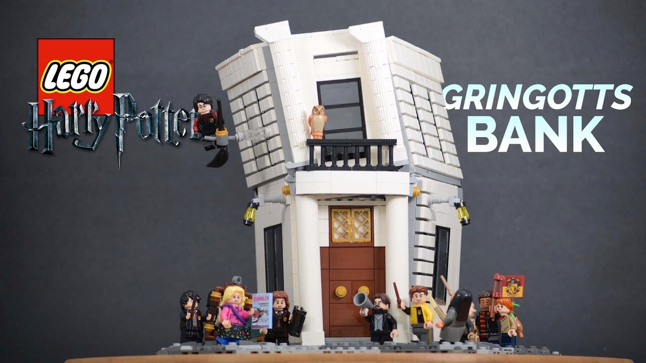 LEGO Harry Potter Gringotts Bank MOC From Diagon Alley!