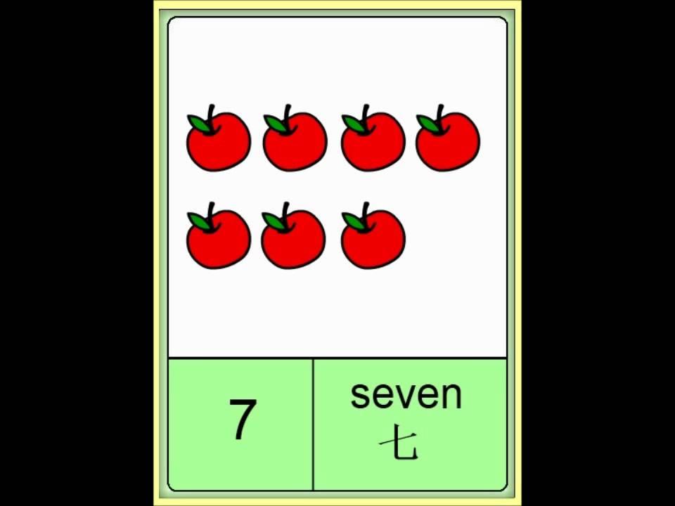 普通话闪卡 - 数数 Mandarin Flashcards - Counting