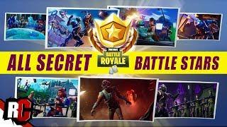 All 7 Secret BATTLE STAR Locations | Fortnite (All Blockbluster Stars + Loading Screen Challenges)