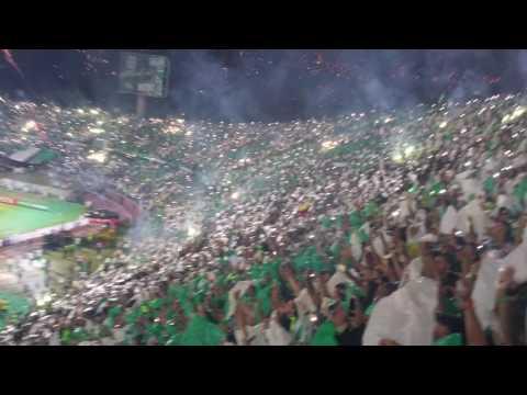 """""""Salida Atletico Nacional Final Copa Libertadores 2016"""" Barra: Los del Sur • Club: Atlético Nacional • País: Colombia"""