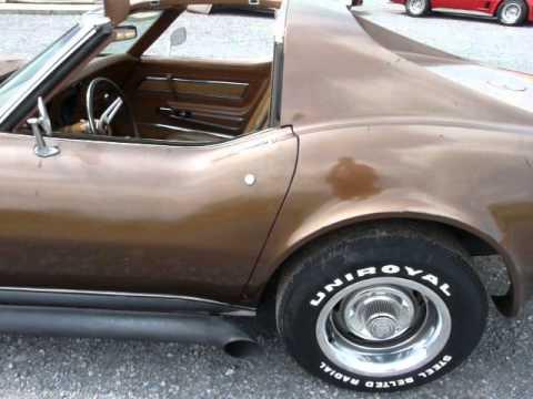 1973 Brown Corvette L82 4spd 45K Miles Video