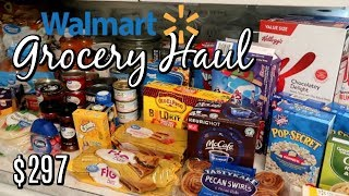 WALMART GROCERY HAUL / $297