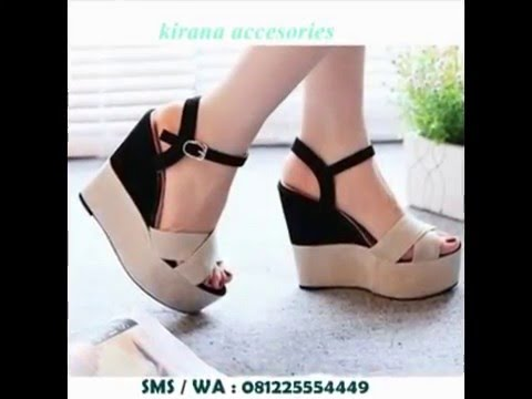 Jual Sepatu Sandal Wedges Wanita Cantik Terbaru Online 081225554449 untuk  berapa banyak Anda dapat menurunkan berat badan dengan menjalankan 3 km  sehari 2cd823dbc4