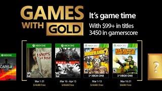 Juegos con Gold Xbox One y Xbox 360 | Marzo 2017