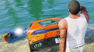 Реальная Жизнь в GTA 5 - УТОПИЛ Lamborghini Huracan.