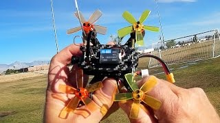 XF100 Punchy Brushless Micro FPV Racer Drone Flight Test Review