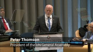 UN General Assembly President calls for mobilising resources towards sustainable development