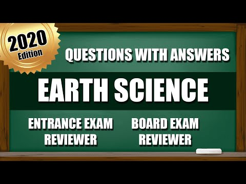 Entrance Exam Reviewer 2020 | Common Questions with Answer in Science - Earth Science | PART 1