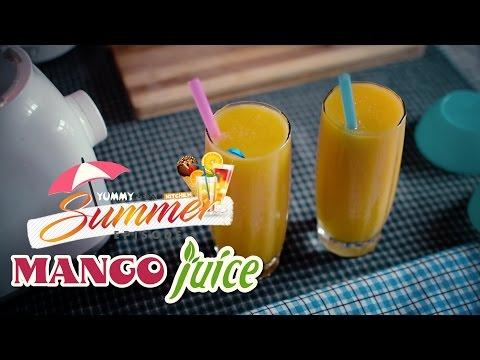 Video Homemade Fresh Mango Juice Recipe | Yummy Nepali Kitchen