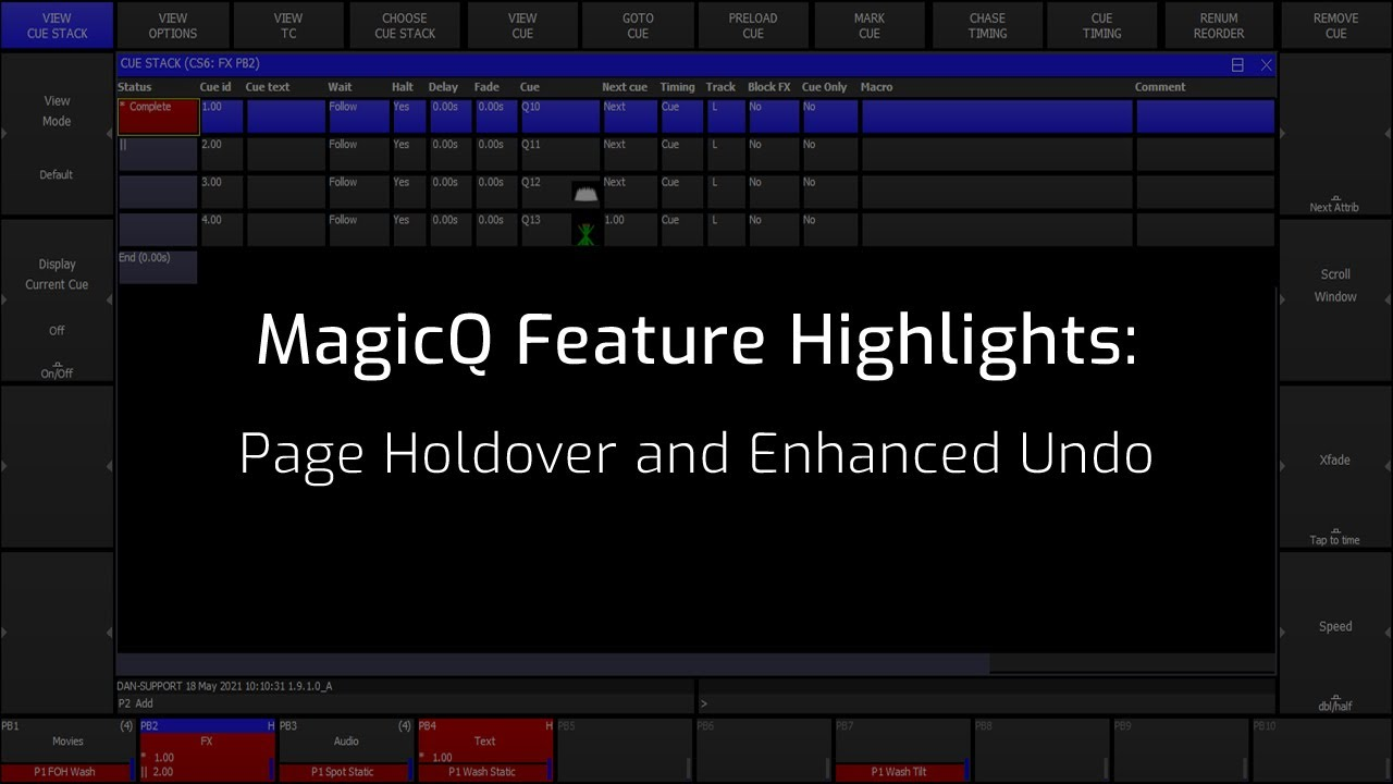 Page Holdover and Enhanced Undo
