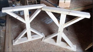 FARMHOUSE TABLE LEG ASSEMBLY DIY | SHOP SATURDAY EPISODE 16