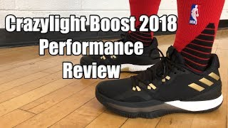 differently c9254 4bed3 Adidas Crazylight Boost 2018 Performance Review