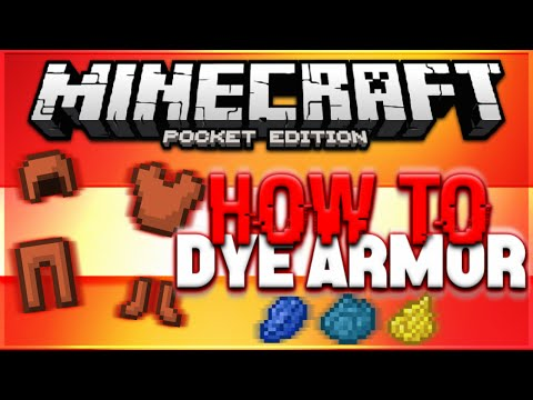 HOW TO DYE LEATHER ARMOR / ARMOUR in Minecraft PE - MCPE Tutorial (Pocket Edition)