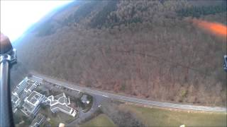 preview picture of video 'Quadcopter-FPV-Flug und Crash über Königstein'