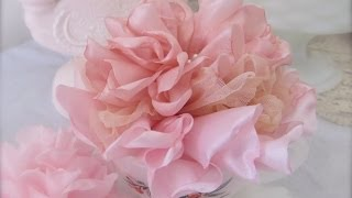 Beautiful and Easy Singed (Melted) Fabric Flower Tutorial